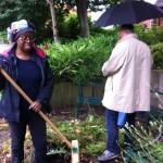 Sandra sweeping