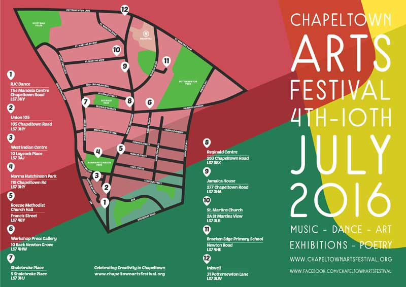 Chapeltown Arts Festival - Leaflet map